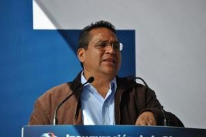 Juan Manuel Oliva en su mensaje agradeció el recibimiento por parte de la ciudadanía