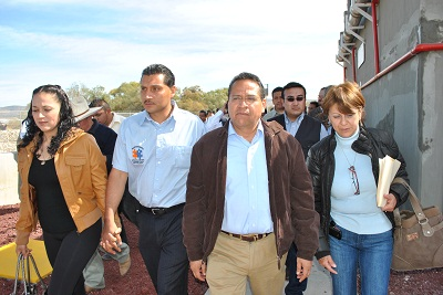 Juan Manuel Oliva Ramírez y  Enrique Arreola Mandujano pusieron en marcha la nueva planta tratadora de aguas residuales