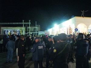Elementos de Protección Civil y de Corporaciones de Emergencia se coordinaron para actuar en cualquier urgencia que se presentara durante el festejo.