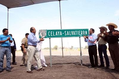 Se Inauguro la carretera Celaya-Salvatierra, se invirtieron 638.6 millones de pesos,