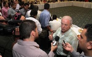 Jorge Videgaray Verdad, coordinador  de   campaña de Juan Ignacio Torres Landa,  presentó al equipo de trabajo que acompañará al candidato en la contienda política.
