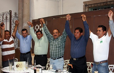 Rubén Villafuerte unió a ex militantes de otros partidos en la planilla del PVEM