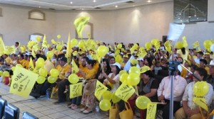 Zambrano y Navarrete tomaron protesta a candidatos y candidatas perredistas