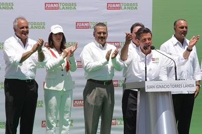 Enrique Peña Nieto cree plenamente en triunfo de Torres Landa en las próximas elecciones estatales.