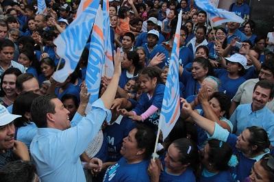 El abanderado de la coalición PAN-PANAL externó que trabajará para que en Celaya vivan con tranquilidad y paz social