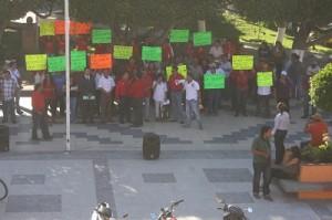 Se enfrentaron verbalmente Alanís Mosqueda y el presidente municipal, Hugo García Carmona