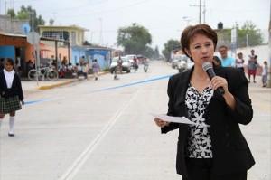 Llevaron a cabo la inauguración del pavimento de concreto hidráulico, guarniciones y banquetas de la Calle Benito Juárez