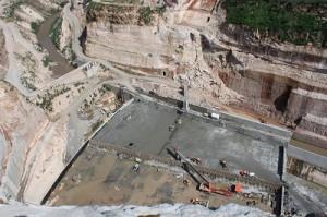 construcción de la presa El Zapotillo