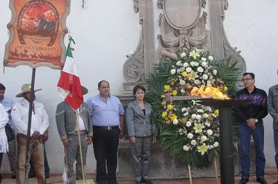 La Alcaldesa Rubí Laura López Silva encabezó la Cabalgata