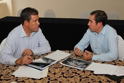 Miguel Márquez Márquez sostuvo un encuentro con Justino Arriaga, Presidente Municipal electo de Salamanca