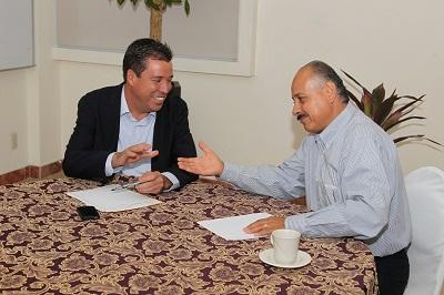 Miguel Márquez Márquez sostuvo un encuentro con Enrique Solís Arzola, Presidente Municipal electo de Silao
