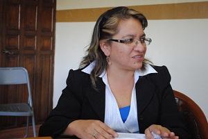 La Directora de Salud, María Elizabeth Rodríguez Aguilar