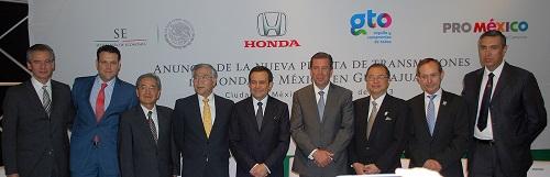 Anuncia el gobernador, Miguel Márquez Márquez, nueva planta de transmisiones de Honda México en Guanajuato.