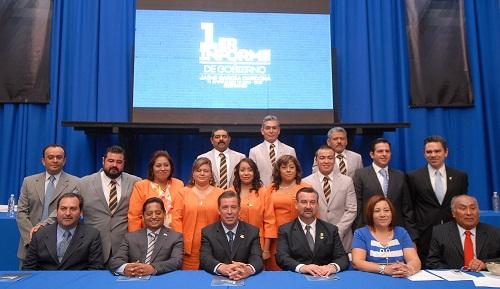? Participa el Ejecutivo en el Primer Informe de Gobierno del Ayuntamiento de Jerécuaro, que preside el alcalde, Jaime García Cardona