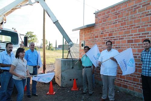 En gira de trabajo por el municipio, el Presidente municipal Luis Ignacio Rosiles del Barrio