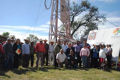 Esta perforación servirá para dotar de agua potable a 450 personas de la comunidad de La Cuadrilla