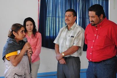 Por su parte la Delegada de Ojo de Agua de Nieto, agradeció, en nombre de la comunidad, el apoyo brindado por parte de la administración