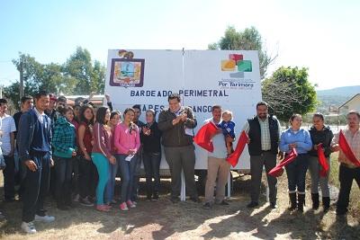 En su mensaje el presidente municipal Retiz López expreso su compromiso con los habitantes de cada una de las comunidades