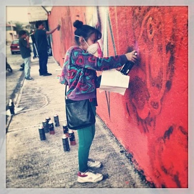 Se grafitiaron varios espacios dentro de la cabecera municipal