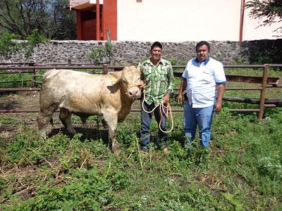 Entregaron distintos apoyos como tejabanes, animales y maquinaria.