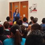 Alejandrina Lanuza Hernández presentó su plan de trabajo en el eje de economía