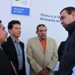 Al concluir el evento, el Presidente de Salvatierra en compañía de las autoridades estatales, municipales y beneficiarios visitaron la Feria de la Salud instalada en la UMAPS Urireo.