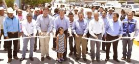 Inaugura el Gobernador Miguel Márquez Márquez, la primera etapa del bulevar La Noria en el municipio de Tarimoro.