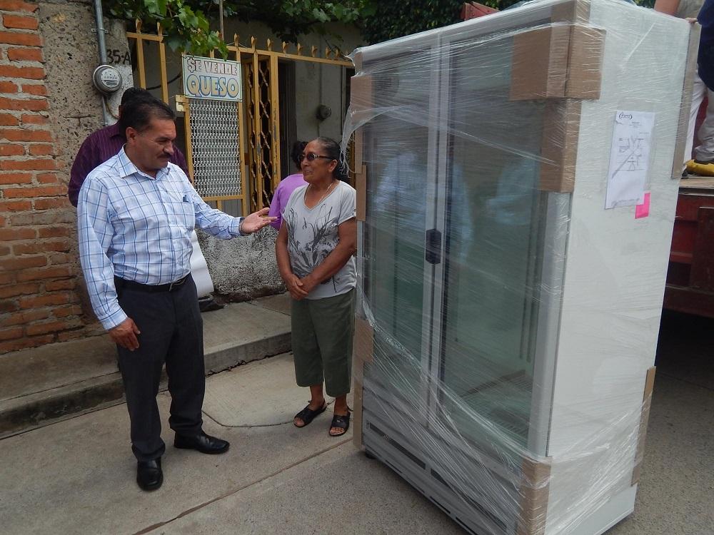 La beneficiaria, María Jiménez, agradeció enormemente a las autoridades involucradas