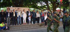 Autoridades Municipales y Educativas conmemoraron el 206 Aniversario del Inicio de la Independencia Nacional.