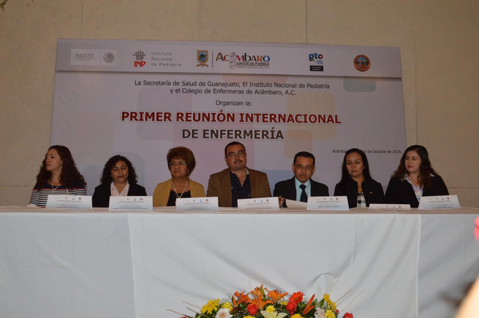 La Reunión Internacional de Enfermería (Innovar para transformar) fue inaugurada por el Lic. Gerardo Javier Alcántar Saucedo, Presidente Municipal, en donde expresó la necesidad de actualización constante en esta noble profesión.