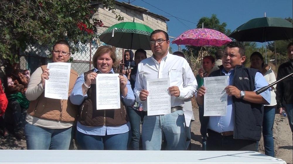 ; firmaron un convenio de colaboración para la construcción del Sistema de Abastecimiento de Agua Potable en la comunidad de Puerto de Cabras