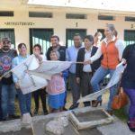 Se colocó la primera piedra que da inicio a los trabajos de construcción del módulo de servicios sanitarios