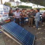 Cabe mencionar que cada calentador solar tiene una capacidad de 150 litros y consta de 12 tubos