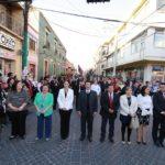 se realizó el desfile por las principales calles del municipio