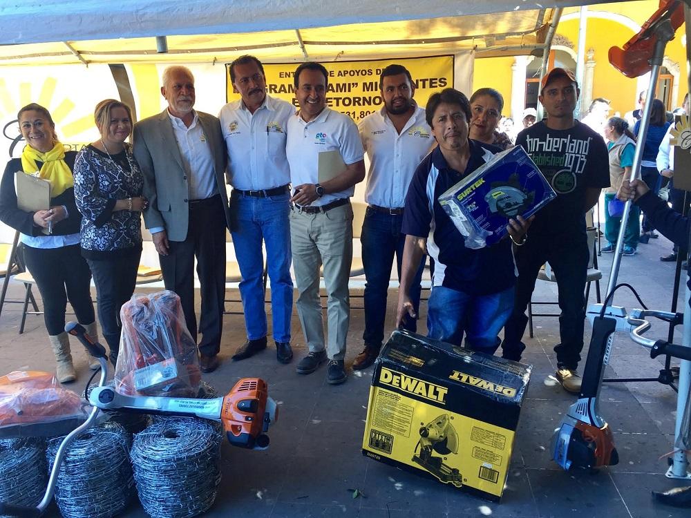 Se entregó equipo de herrería para uno de los beneficiados con el programa FAMI, Migrantes en Retorno.