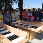 Se beneficiaron a 61 familias de San Cayetano y La Purísima Concepción