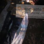 Se trata de un masculino de aproximadamente 35 años, el cual vestía chamarra color café, tenis color blanco, en posición decúbito ventral, apreciándose a simple vista una lesión en rostro y cabeza con las características de las producidas por proyectil disparado por arma de fuego.
