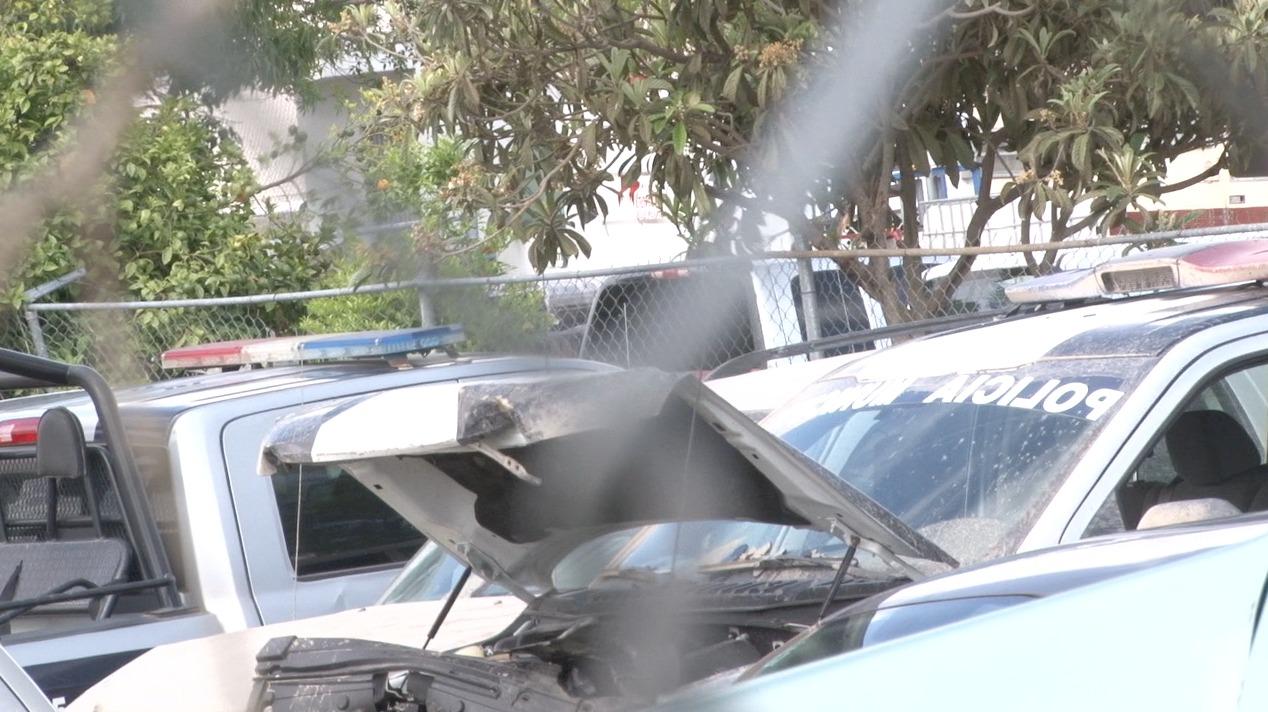 Tres policías lesionados fue el saldo de un choque