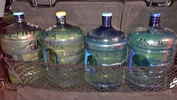 SSG exhorta a extremar precauciones con el uso de garrafones que se utilizan para llenar gasolina.